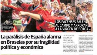 Distintas portadas del diario El HOY