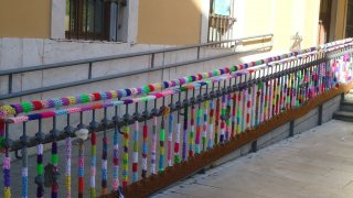 'Urban knitting' en Badajoz