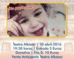Cartel informativo del concierto para ayudar a Valeria