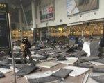 Fotografía tomada justo después del atentado. Los niveles de seguridad han aumentado en toda Bruselas.