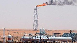Plataforma petrolífera cerca de Riad, en Arabia Saudí.