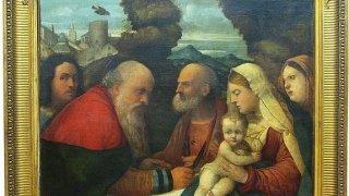 Presentación de Jesús en el Templo», de Girolamo Dai Libri, uno de los tres cuadros recuperados. / Efe
