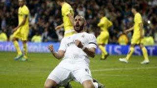 Karim celebrando el primer gol del encuentro.