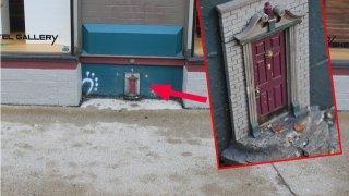 Una de las pequeñas puertas de Ann Arbor