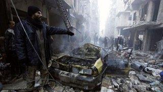 Alepo después de sufrir el bombardeo.