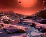 Recreación de uno de los planetas