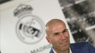 Zidane en la rueda de prensa tras el partido ante el Manschester City.