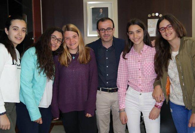 Acrossborders con el Presidente de la Diputación Provincial de Badajoz
