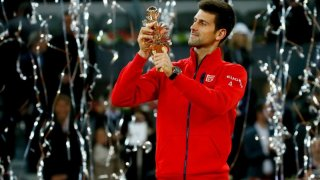 Novak Djokovic y su título conseguido