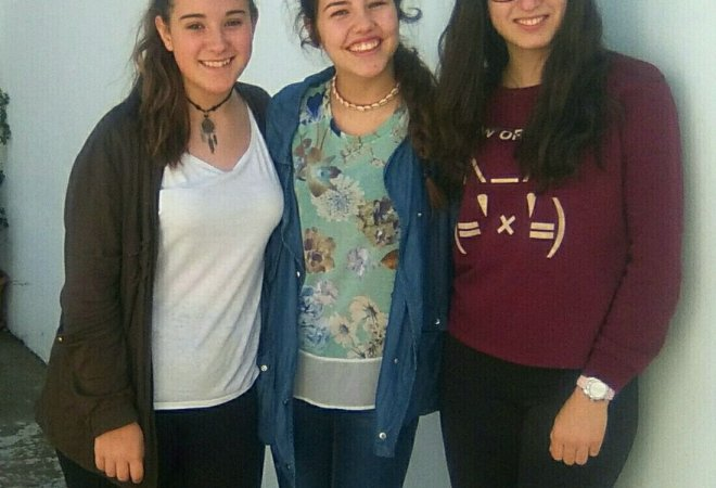Natalia, Ángela y Paloma.