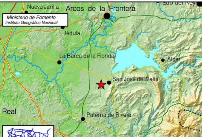 La localización de los puntos de terremoto