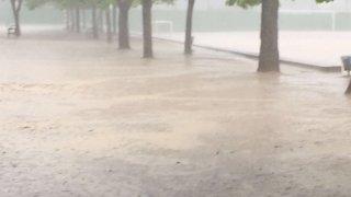 Llueve en El Tomillar 12/05/2016. David Llano