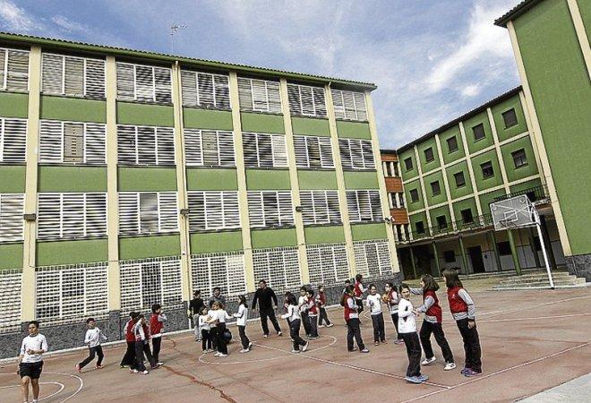 El colegio Sagrado Corazón, donde ocurrieron los hechos.