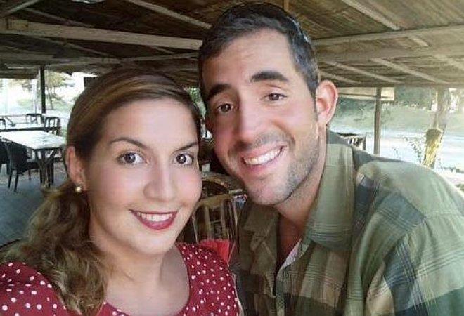Marta Miguel y su novio, David Hernández.