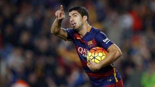 Luis Suarez dedicando un gol