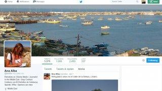 Perfil del Twitter de Ana Alba. Roberto Herrera