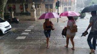 Calle de Badajoz con las tormentas infernales- Jaime Fernández