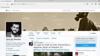 Perfil en twitter de Víctor M. Olazábal. Roberto Herrera