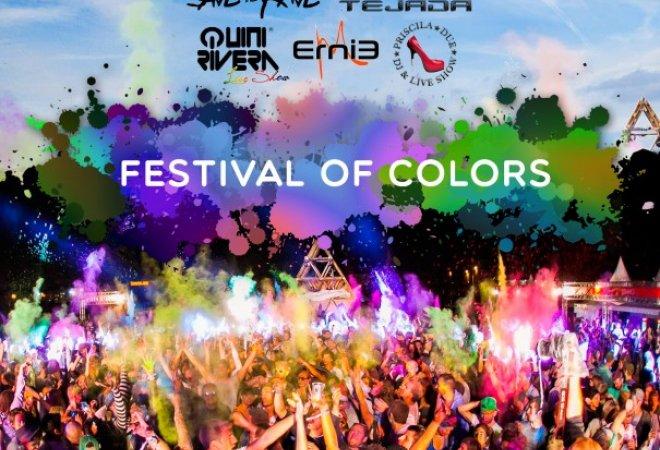 Cartel informativo del Festival of Colours.