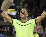 Rafael Nadal celebra su victoria ante el estadounidense