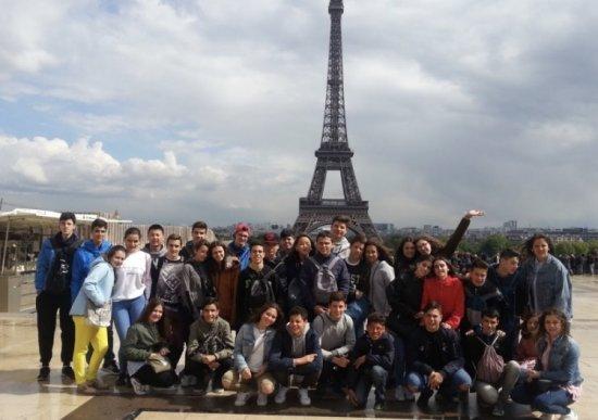 Los alumnos de 3º ESO del IES Cuatro Caminos visitan París