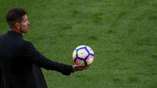 Simeone, en el partido contra el Eibar en el Calderón