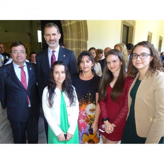 El Rey entrega el premio Carlos V en el Monasterio de Cuacos de Yuste a Marcelino Oreja