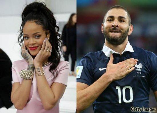 Rihanna y Karim Benzema.