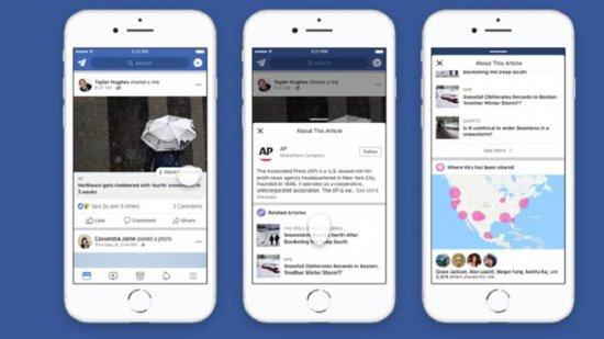 Facebook combate las noticias falsas en Estados Unidos con información sobre sus autores