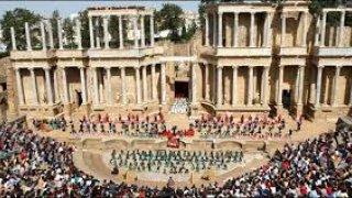 Teatro de Mérida durante la representación.