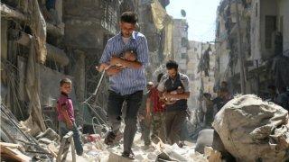 Momento del ataque en Siria