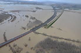 Desbordamiento del río Ebro.