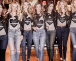 """Modelos de la marca mundialmente conocida """" Victoria's Secret""""."""
