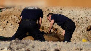 Policías especializados alemanes en la búsqueda.