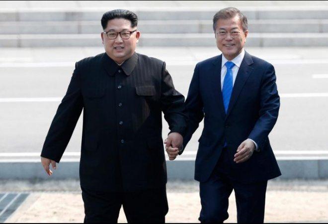 Moon Jae-in y Kim Jong-un protagonizaron este viernes un histórico encuentro en la frontera entre ambos países.