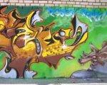 Imagen de un graffiti pacense. Pedro Serrano