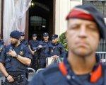 Manifestación en la Jefatura Superior de la Policía en Barcelona el pasado 2 de octubre.
