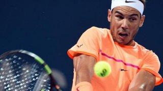 Rafa Nadal, en el partido que disputó ayer ante Gaël Monfils correspondiente a la segunda ronda de Mutua Madrid Open.