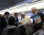Javier con el papa Francisco. CEDIDA