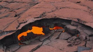 Grieta en el volcán Kilauea